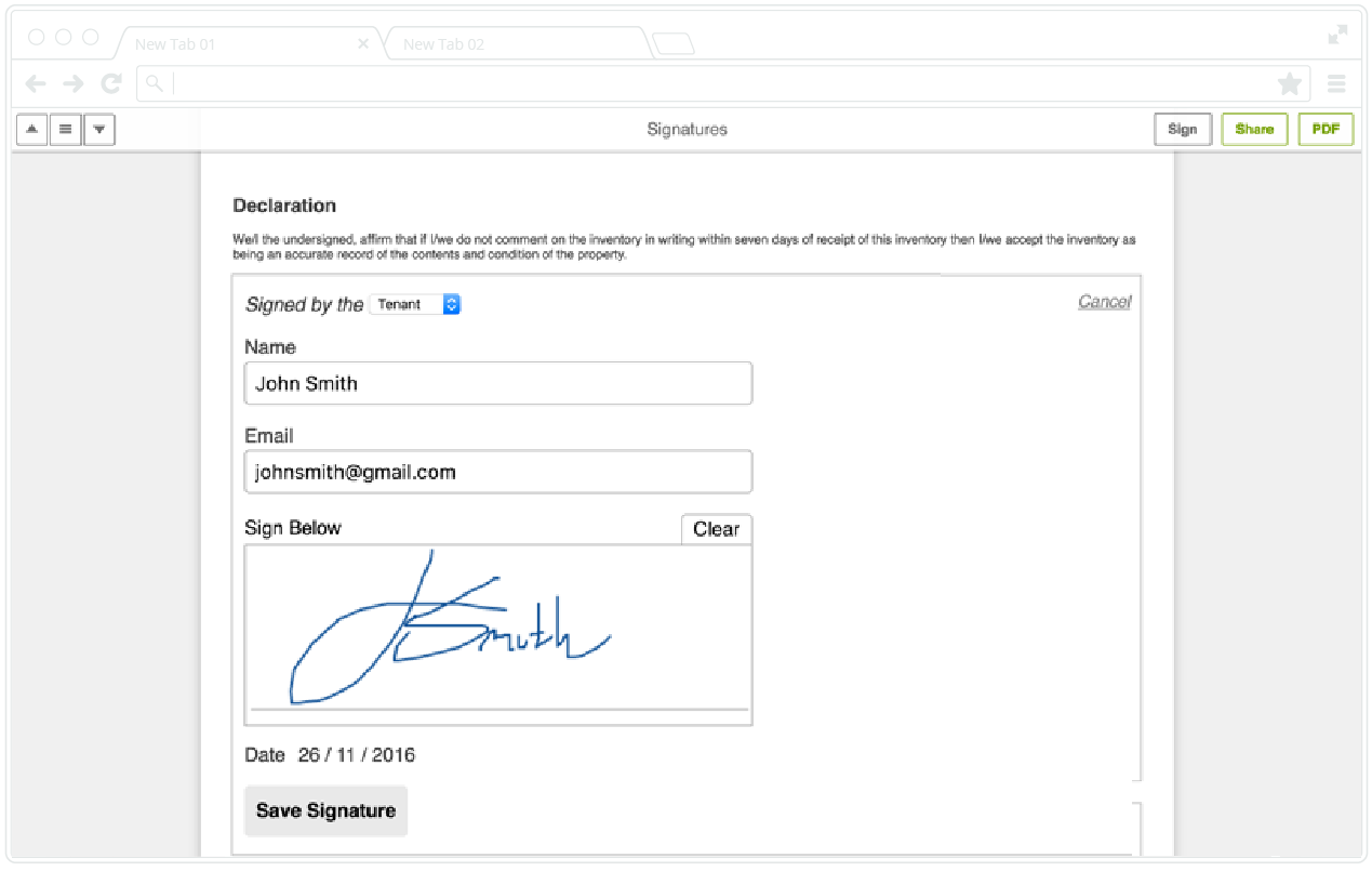 Inspection Digital Signatures